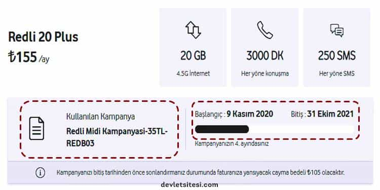 Vodafone taahhüt sözleşme bitiş tarihi sorgulama
